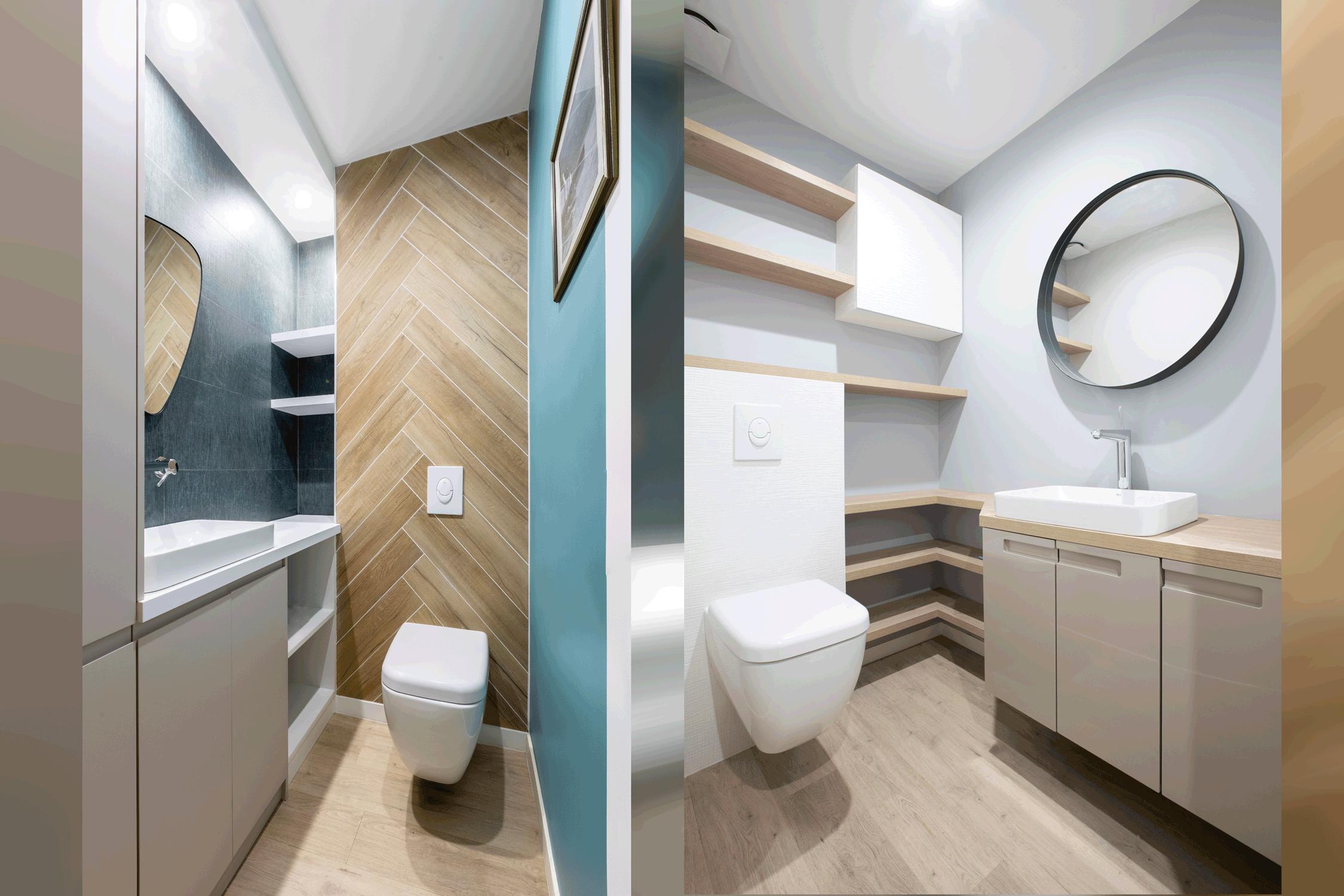 WC du rez-de-chaussée et de l'étage après travaux Draveil 2